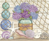 Hydrangea & Seashells Fine-Art Print