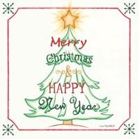 Tree and Happy New Year Fine-Art Print