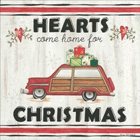 Hearts Come Home for Christmas Fine-Art Print