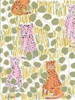 Hello Cheetah - Pink & Orange Fine-Art Print