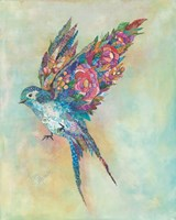 Botanical Swallow Fine-Art Print