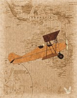 Airplane Map 1 Fine-Art Print