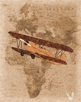 Airplane Map 3 Fine-Art Print