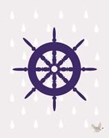 Nautical Raindrops 1 Fine-Art Print
