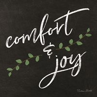 Comfort & Joy Chalkboard Fine-Art Print