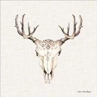 Boho Steer Head I Fine-Art Print