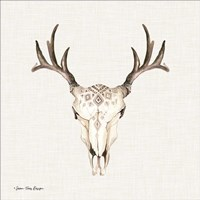 Boho Steer Head II Fine-Art Print