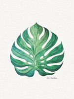 Watercolor Monstera Leaf Fine-Art Print