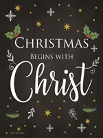 Christmas Begins with Christ Fine-Art Print