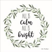 All is Calm Wreath Fine-Art Print