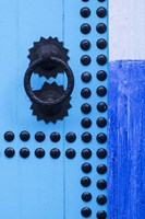 Detail of Blue Door, Chefchaouen, Morocco Fine-Art Print