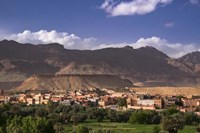 The Oasis City of Tinerhir beneath foothills of the Atlas Mountains, Morocco Fine-Art Print