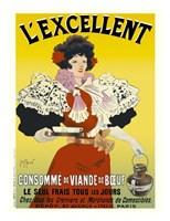 L'excellent, Consomme de Viande de Boeuf Fine-Art Print