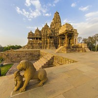 Hindu Temples at Khajuraho, India Fine-Art Print