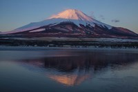 Mt Fuji and Lake at sunrise, Honshu Island, Japan Fine-Art Print