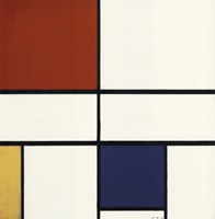 Composition C (No. III) with Red, Yellow and Blue Fine-Art Print