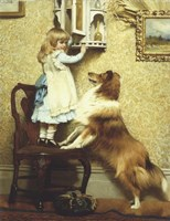 Little Girl and Her Sheltie Fine-Art Print