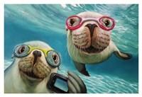 Underwater Selfie Fine-Art Print