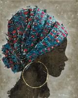 Profile of a Woman I (gold hoop) Fine-Art Print