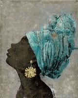 Profile of a Woman II (gold earring) Fine-Art Print