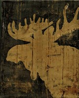 Rustic Lodge Animals Moose Fine-Art Print