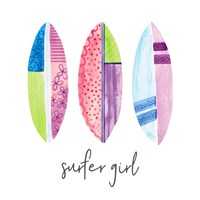 Sports Girl Surfer Fine-Art Print