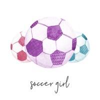 Sports Girl Soccer Fine-Art Print