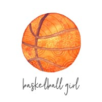 Sports Girl Basketball Fine-Art Print