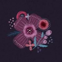 Dark Purple Florals I Fine-Art Print