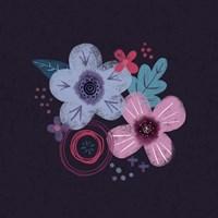 Dark Purple Florals IV Fine-Art Print