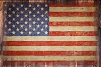 Vintage Flag on Barnwood Fine-Art Print
