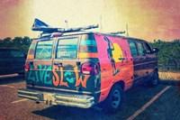 Beach Van at Sunset Fine-Art Print