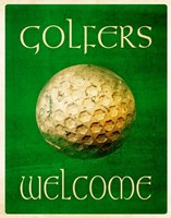 Golfers Welcome Fine-Art Print