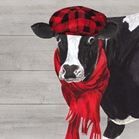 Intellectual Animals III Cow and Scarf Fine-Art Print