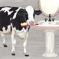 Bath time for Cows Sink Fine-Art Print