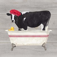 Bath time for Cows Tub Fine-Art Print