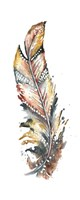 Tribal Feather Single I Framed Print