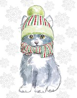 Christmas Kitties II Snowflakes v2 Fine-Art Print