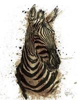 Gold Africa II on White Crop Fine-Art Print