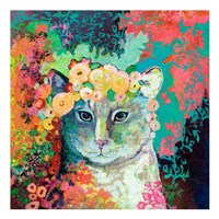 My Cat Naps in a Bed of Roses Fine-Art Print