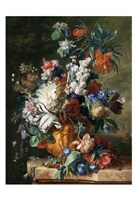 Jan van Huysum, Bouquet of Flowers in an Urn Fine-Art Print