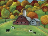 Colors of Autumn Barnyard Fine-Art Print
