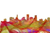 St Paul Minnesota Skyline - Summer Swirl Fine-Art Print