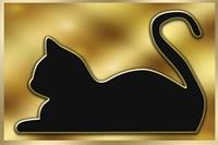 Cat on Gold Background Fine-Art Print