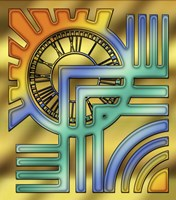 Colorful Clock Fine-Art Print