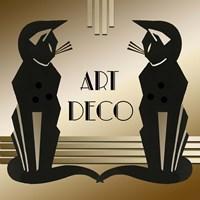 Art Deco Cats 1 Fine-Art Print