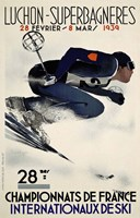 French Ski Competition 1939 Fine-Art Print