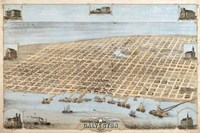 Map Of Galveston Texas 1871 Fine-Art Print