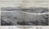 Map Of Portland Oregon 1879 Fine-Art Print