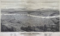 Map Of Portland Oregon 1879 Fine-Art Print